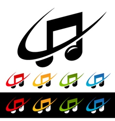 Swoosh Music Note Logo Icons vector image