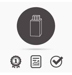 Usb drive icon flash stick sign vector
