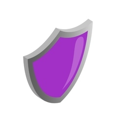 Violet security shield icon isometric 3d style vector image vector image