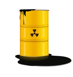 yellow metal barrel vector image vector image