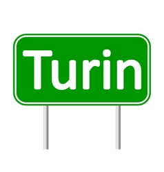 Turin road sign vector image