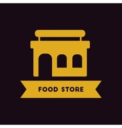 Grocery store building vector