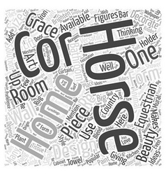 Equestrian home decor word cloud concept vector