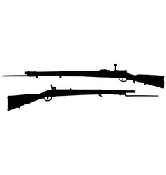 Vintage military rifles vector image