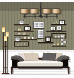 Nice living room vector