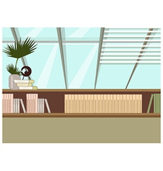 Home bookshelf vector