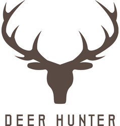 deer head design templatehunting vector image