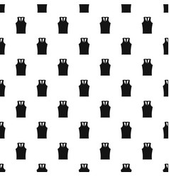 sleeveless shirt pattern vector image