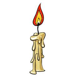cartoon image of candle icon memorial symbol vector image