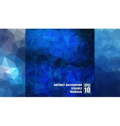 Abstract geometric background of triangles in blue vector