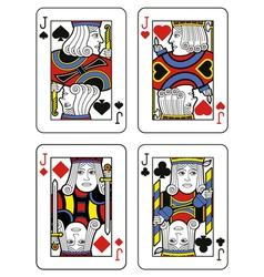 Four Jacks vector image