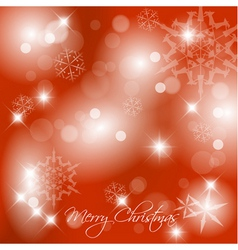 christmasbackground2010red vector image