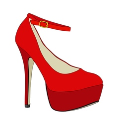 A beautiful female shoe vector