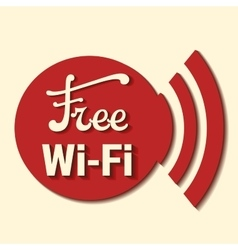 Free zone wi-fi vector