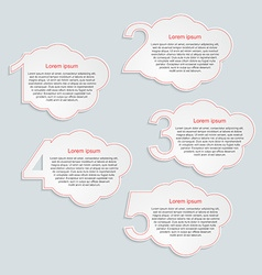 Abstract infographics number options vector
