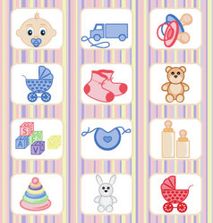 Baby-icon-collection vector