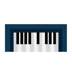 Piano keyboard music instrument icon design vector image
