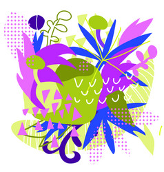 abstract floral elements paper collage vector image