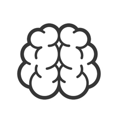 Brain Logo Icon on White Background vector image