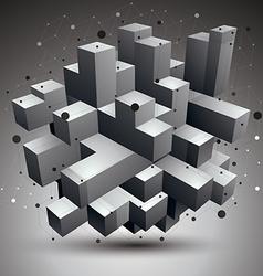 complicated 3d figure modern digital technology vector image vector image
