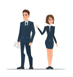 Couple business people in business suits is vector