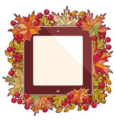 Cute autumn background vector