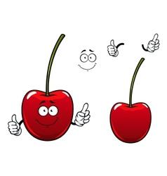 Fresh sweet cherry fruit cartoon character vector image vector image