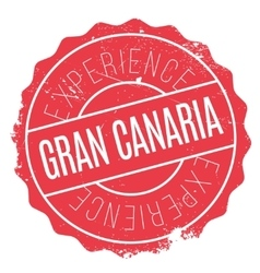 Gran canaria stamp vector