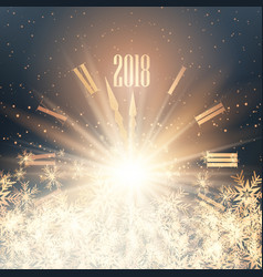 happy new year clock background vector image vector image