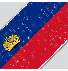 Liechtenstein grunge flag vector