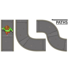 Man walking on cement path vector image vector image