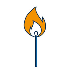 Matchstick icon vector
