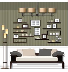 Nice living room vector