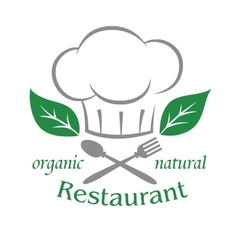 Organic natural restaurant icon vector image vector image