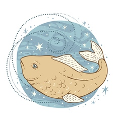 pisces zodiac sign vector image