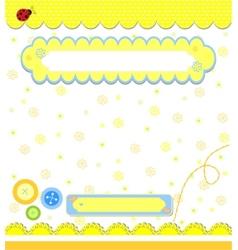 Romantic yellow scrapbooking for invitation vector image