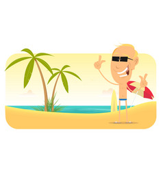 summer beach vacations banner vector image vector image