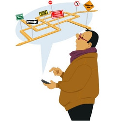 Traffic alert vector image vector image