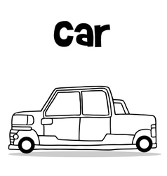 Transport collection of car hand draw vector