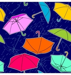 Umbrellas Pattern vector image