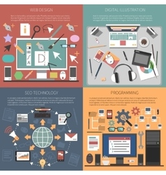 Web design concept vector