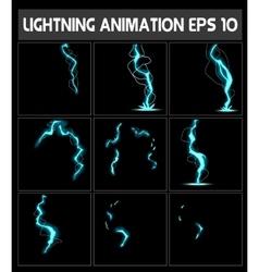 Web Lightning animation Game of vector image