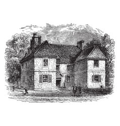 William penns house vintage vector