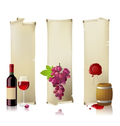 wine banners vector image vector image