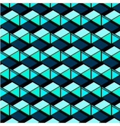 Abstract repetition geometric navy blue squares vector