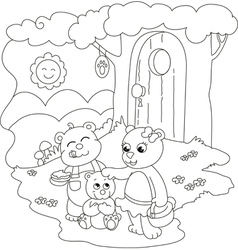 Cute coloring bears vector