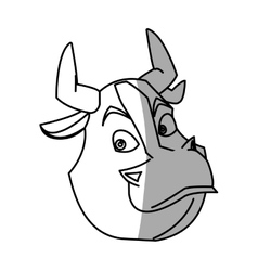 Isolated bull cartoon design vector