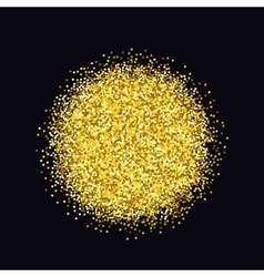 Gold sparkles on black background glitter vector