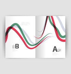 business brochure flyer tempalate wave and line vector image