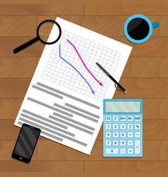 Analytics result chart vector